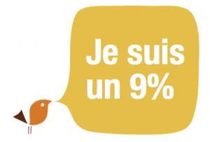 9 pour cent