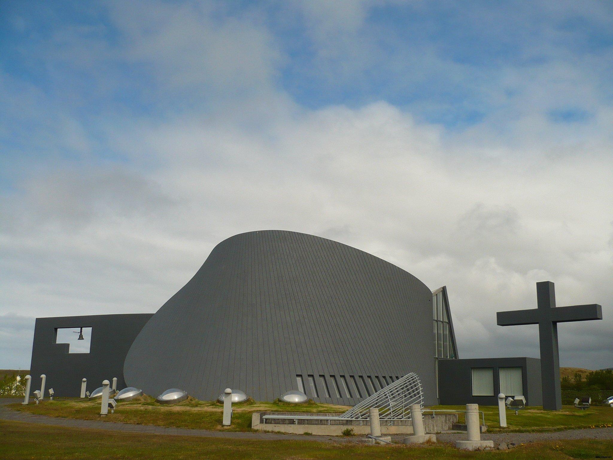 Eglise très moderne à Blonduos