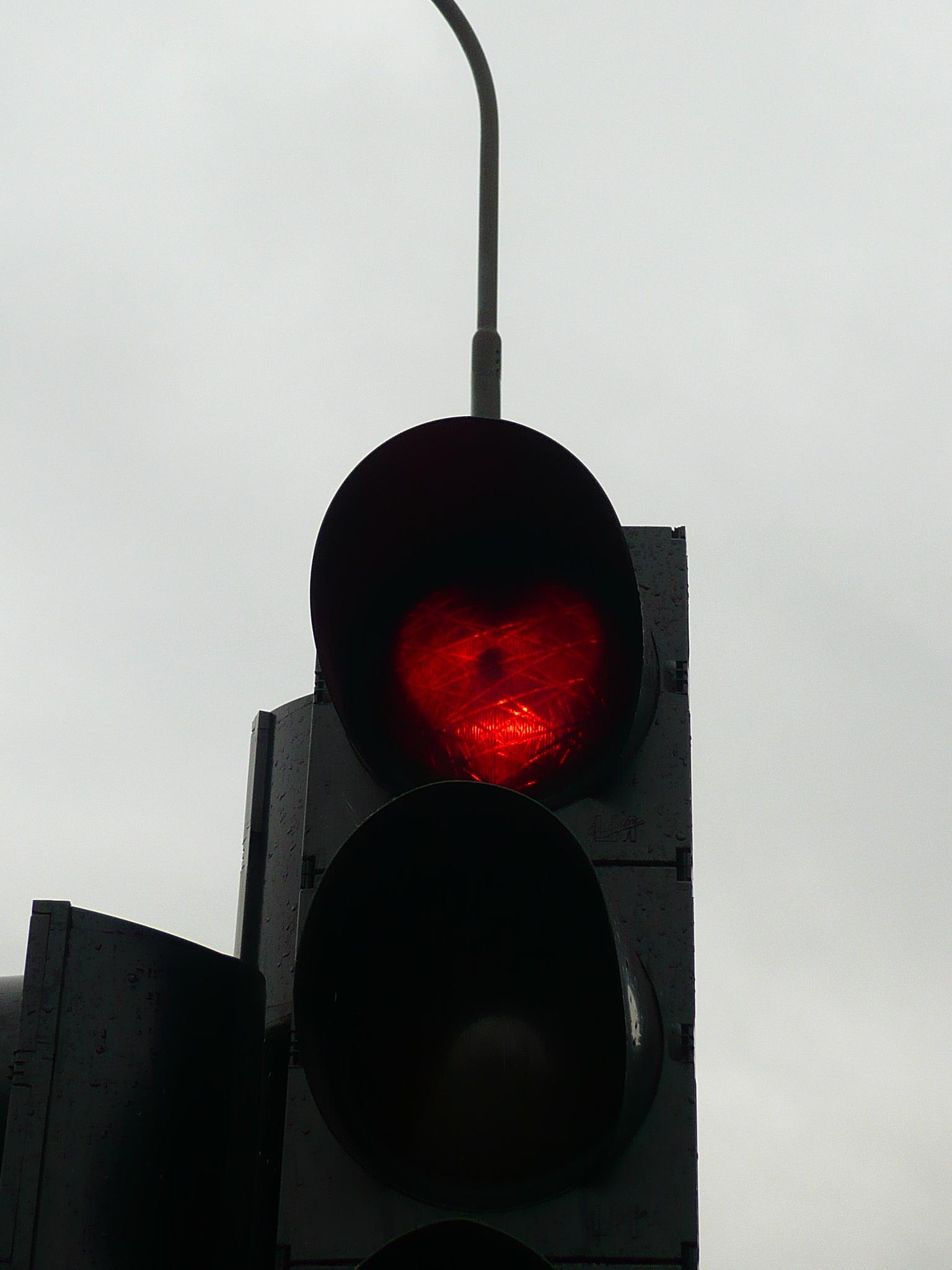 Akureyri - Tous les feux rouge sont en forme de coeur!